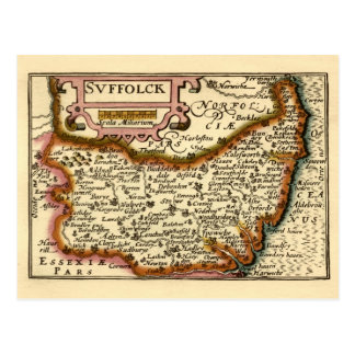 """Suffolck"" Suffolk County Map Postcards"