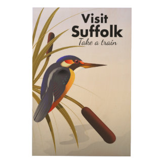 Suffolk England Vintage Travel Art Wood Prints