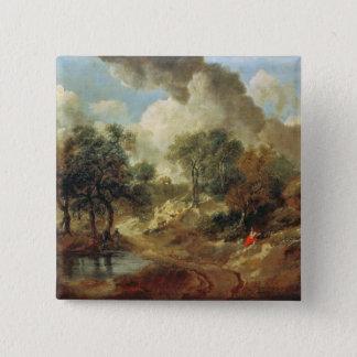 Suffolk Landscape, 1748 15 Cm Square Badge