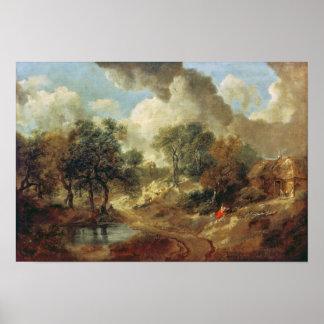 Suffolk Landscape, 1748 Poster