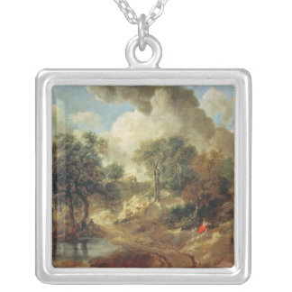 Suffolk Landscape, 1748 Silver Plated Necklace