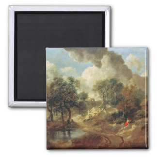 Suffolk Landscape, 1748 Square Magnet