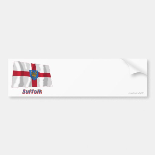 Suffolk St Edmund's Proposal Waving Flag with Name Bumper Stickers