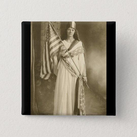 suffrage liberity lady vote square button