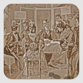 Suffrage Movement Meeting Square Stickers