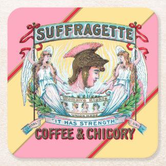 Suffragette Coffee & Chicory Square Paper Coaster