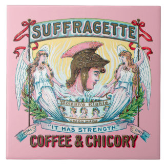 Suffragette Coffee & Chicory Trivet Large Square Tile