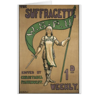Suffragette Magazine Card