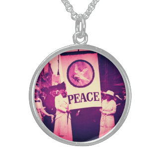Suffragette Peace March Sterling Silver Necklace