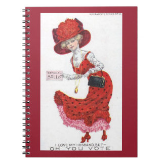 Suffragette Votes for Women Postcard Art Paper Notebooks