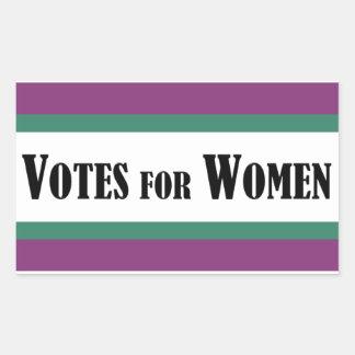 Suffragette Votes for Women Rectangular Sticker