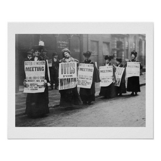 Suffragettes Vote for Women, London Poster