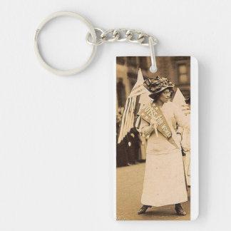 Suffragist Key Chain Rectangular Acrylic Key Chain