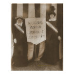 Suffragists Mrs. McCormick and Mrs. Parker Poster