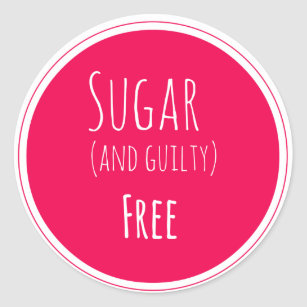 Sugar free gifts gift ideas zazzle uk sugar and guilty free sticker negle Images