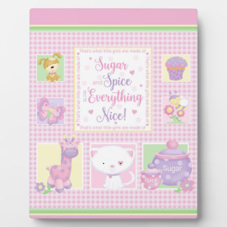 Sugar and Spice Baby Art Easel Plaque