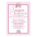 """Sugar and Spice Baby Shower 5"""" X 7"""" Invitation Card"""