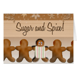 Sugar and spice baby shower invitation greeting card