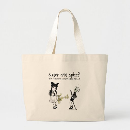 Sugar and Spice Tote Bags