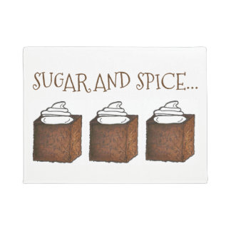 Sugar and Spice Gingerbread Cake Christmas Holiday Doormat