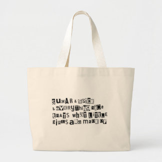 Sugar and Spice Large Tote Bag