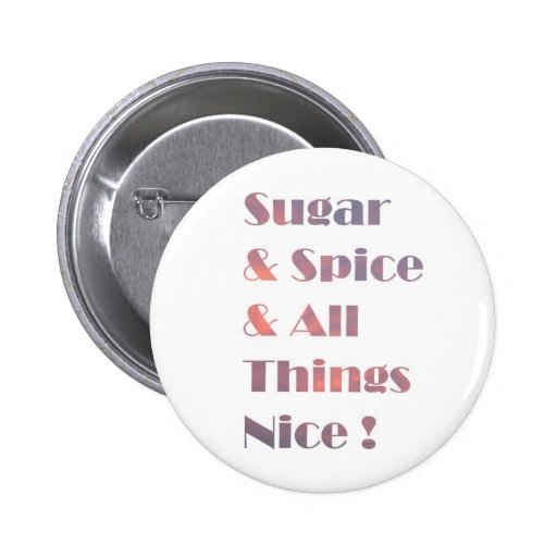 Sugar and Spice Pink Button