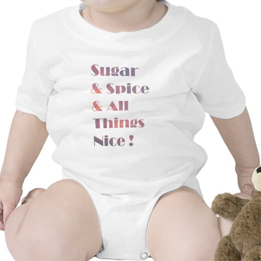 Sugar and Spice Pink Infant Baby Bodysuits