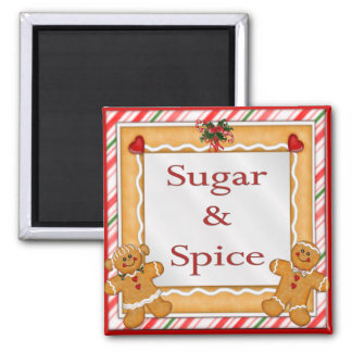 Sugar and Spice Refrigerator Magnet