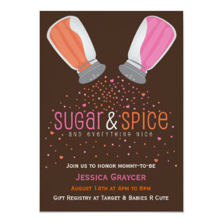 Sugar and Spice Shakers Baby Shower Invitation 2