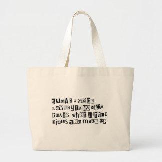 Sugar and Spice Jumbo Tote Bag