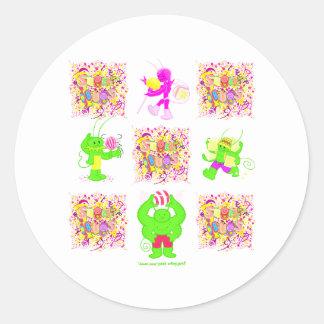 Sugar Bugs all 4 logo stickers