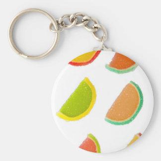 sugar candies basic round button key ring