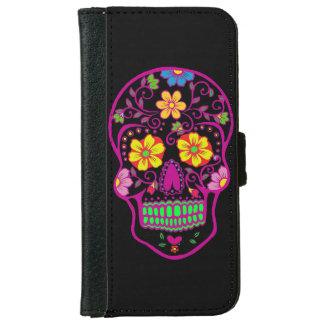 Sugar clown Skull iPhone 6 Wallet Case