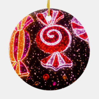 Sugar confections fireworks shaped christmas ornament