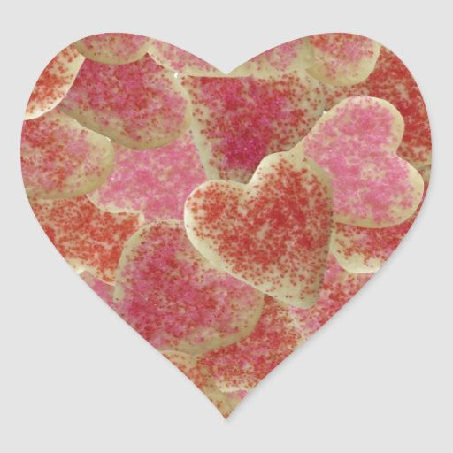 """Sugar Cookie Hearts"" Stickers"