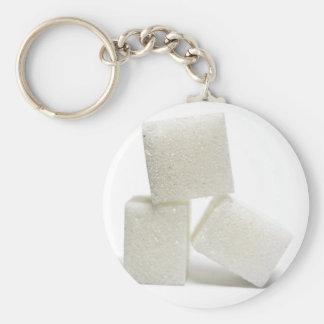 Sugar Cubes Basic Round Button Key Ring