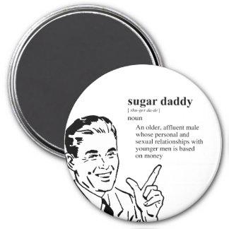 SUGAR DADDY 7.5 CM ROUND MAGNET