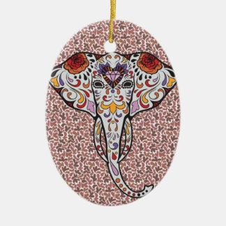 Sugar Elephant Christmas Ornament