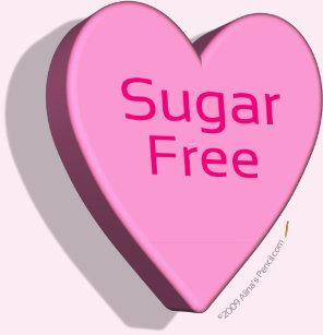 Sugar free gifts gift ideas zazzle uk sugar free candy heart shirt pink negle Images