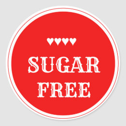 Sugar free gifts on zazzle uk sugar free sticker negle Images