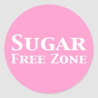 Diabetes endocrinologist gifts t shirts art posters other sugar free zone gifts classic round sticker negle Gallery