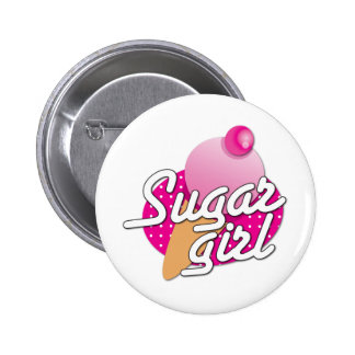 Sugar Girl rockabilly icecream 6 Cm Round Badge