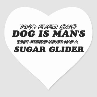 Sugar glider best friend heart sticker