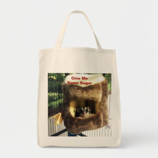 Sugar Glider in Furry Tree Truck Hanging Bed Grocery Tote Bag