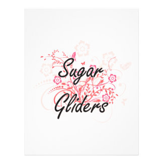 Sugar Gliders with flowers background 21.5 Cm X 28 Cm Flyer