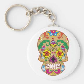 Sugar head sugar skull key chains