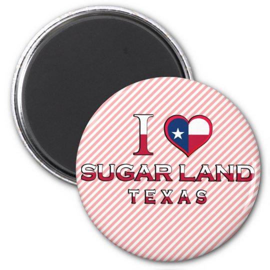Sugar Land, Texas 6 Cm Round Magnet