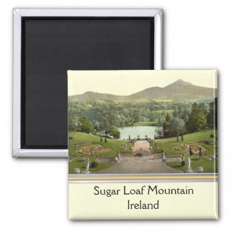 Sugar Loaf Mountain, County Wicklow, Ireland Square Magnet