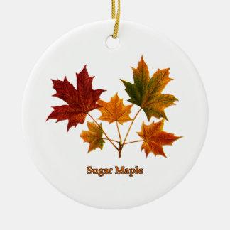 Sugar Maple Leaves Christmas Ornament