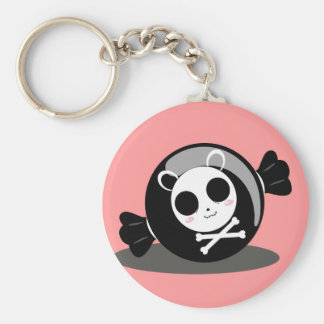 Sugar Overkill Candy Logo Basic Round Button Key Ring